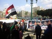 جانب من وقفة المتظاهرين بالتحرير