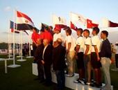 لاعبو مصر والمغرب وتونس على منصة التتويج فى نهائى البطولة العربية للجولف