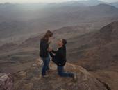 ستيفن يفاجئ مورجن فوق ثانى أعلى قمة جبلية فى مصر