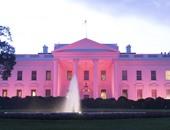 البيت الأبيض يكتسى باللون الوردى