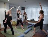جانب من التمارين والرقصة