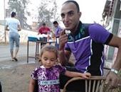 رائد أبو شريعة وطفلته روتانا