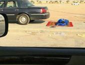 مشجع الهلال نائماً فى الطريق