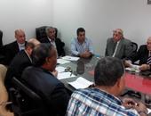 أعضاء الجبلاية مع رؤساء أندية القسم الثانى فى الاجتماع