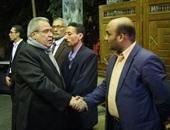 وزير الثقافة يؤدى واجب العزاء