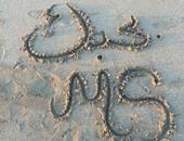 الكتابة على الرمل أحدث أفكار صور الزواج