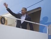 الرئيس الأمريكى باراك أوباما يغادر إلى فرنسا