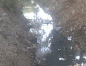 ترعة قرية شنشور تعانى من قلة منسوب المياه