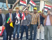 استقبال العاملين بالمقاولون العرب للسيسى
