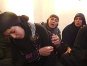والدة الشهيد أحمد السيد محمد السيد وزوجته