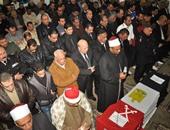 صلاة الجنازة على أحد شهداء بورسعيد