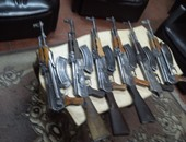 جانب من الأسلحة المضبوطة
