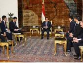 الرئيس عبد الفتاح السيسى خلال استقبال وفد إعلامى صينى