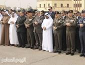 سفير الإمارات بالقاهرة أثناء المشاركة الجنازة العسكرية