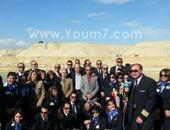 صورة تذكارية لوفد مصر للطيران فى موقع القناة
