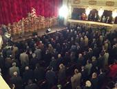 السلام الجمهورى أثناء افتتاح المسرح القومى