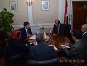 وزير التموين خلال لقاءه تشريس موريتسيس سفير جمهورية قبرص بالقاهرة