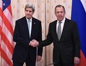 وزير الخارجية الأمريكى جون كيرى ونظيره الروسى سيرجى لافروف