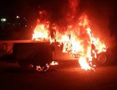 اشتعال النار فى سيارة شرطة - أرشيفية