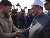 شيخ الأزهر مع رئيس الشيشان