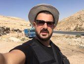 كريم أبو زيد فى موقع تصوير داعدوش