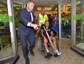 ماكسيمليانو بيريرا لاعب بورتو على كرسى متحرك