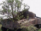 دبابة هزمتها الطبيعة