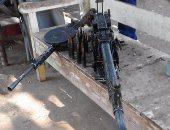 ضبط مدفع رشاش مضاد الطائرات بأسيوط