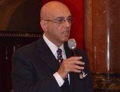محمد سلماوى أثناء كلمته فى حفل تكريمه بالمجر