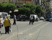 سقوط كابل  كهرباء الترام على الأرض فى الإسكندرية