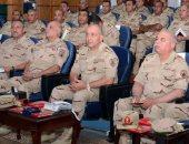 الفريق محمود حجازى وقادة القوات المسلحة