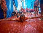 انطلاق مهرجان الطماطم بأسبانيا