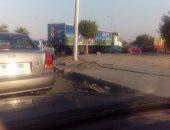 ازدحام امام محطات الوقود لعدم وجود بنزين بطريق الإسماعيلية