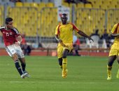 جانب من مباراة الفراعنة مع غينيا