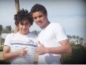 حسين السيد وسعد سمير لاعبى الأهلى
