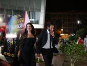 حنان وزوجها فى افتتاح الإسكندرية السينمائى