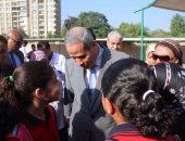 جانب من الجولة وزير التعليم بمدرسة كلية النصر بالمعادى