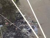 حرق القمامة بشارع المستشفى العام بالمنصورة