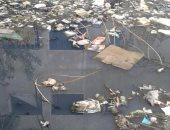 مياه الصرف الصحى تحاصر منازل منطقة العوضلاب بأسوان