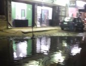 غرق شارع النصر بالمطرية فى مياه الصرف الصحى
