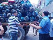 توزيع اسطوانات بوتجاز على اهالى مدينة بلقاس