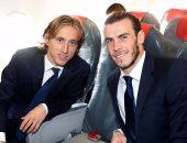 بيل ومودريتش على متن طائرة ريال مدريد المغادرة إلى ألمانيا