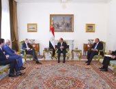 الرئيس عبد الفتاح السيسي يستقبل وفدا من مؤسسة بروكينجز الأمريكية