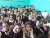 تكدس تلاميذ مدرسة 23 يوليو فى الخانكة بمحافظة القليوبية