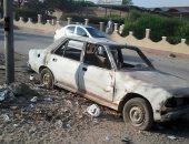 قمامة وسيارة خردة فى مدينة نصر