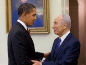 شيمون بيريز والرئيس باراك أوباما