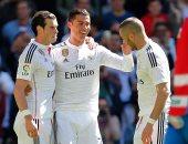 ثلاثى هجوم ريال مدريد رونالدو وبنزيما وجاريث بيل
