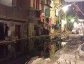 غرق شارع أبو بكر الصديق بمياه الصرف الصحى