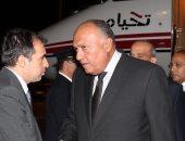 وزير الخارجية سامح شكرى فى مطار تل أبيب