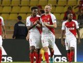 فرحة لاعبى موناكو بالفوز الساحق